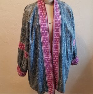 Vintage Embroidered Hmong Laotian Jacket XL